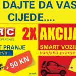 2X Akcija: Komplet pranje + Smart vozila