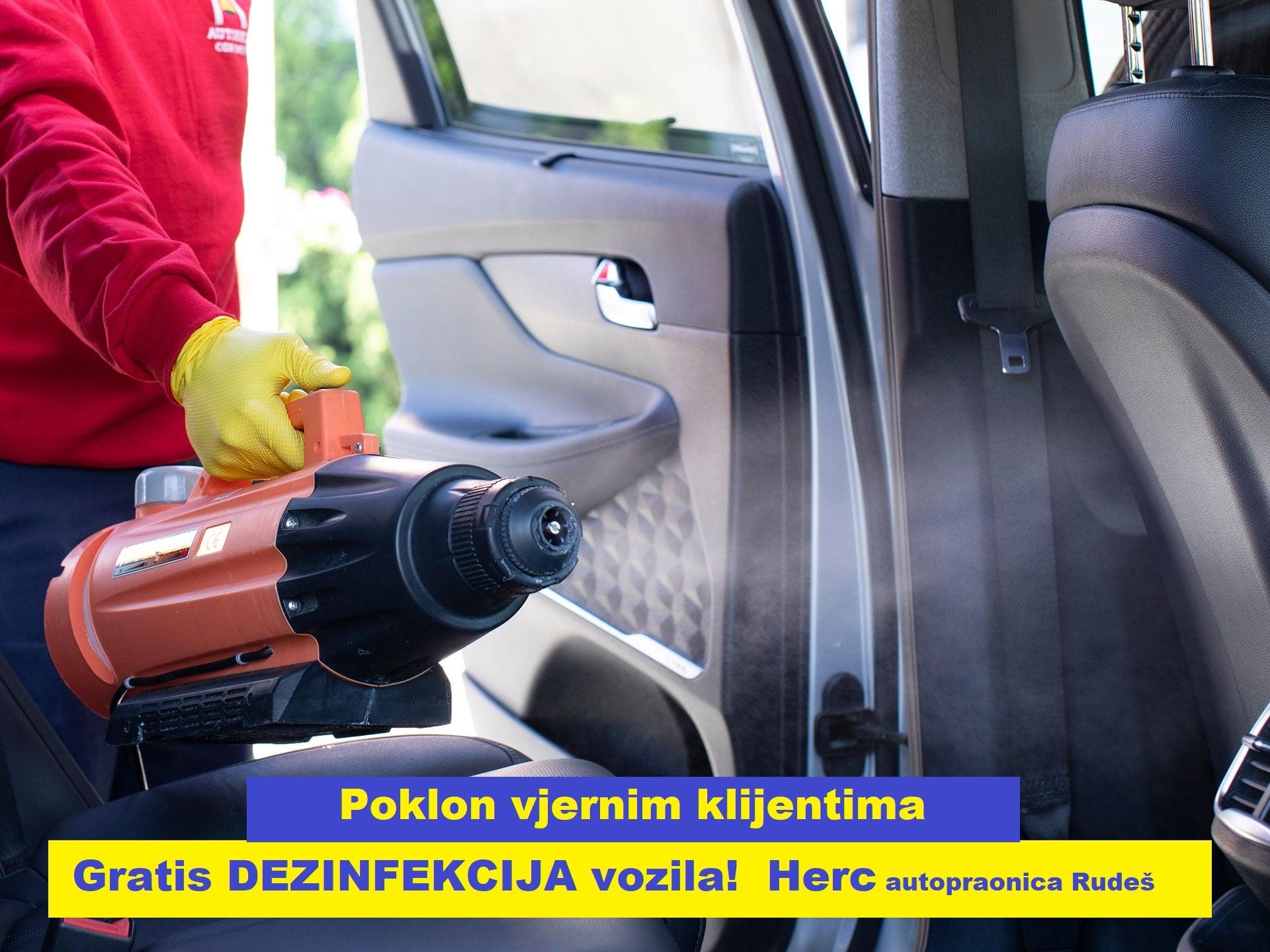 Gratis dezinfekcija vozila!