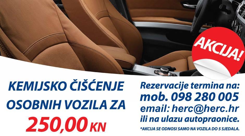 I dalje najpovoljnije kemijsko čišćenje vozila: Već od 250,00 Kn..