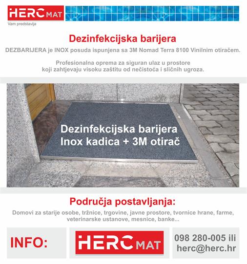 HERC – Dezinfekcijska barijera