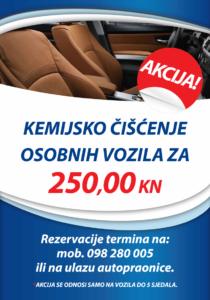 AKCIJA – Kemijsko čišćenje – SAMO 250 kn