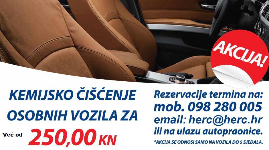 Akcija kemijsko čišćenje osobnih automobila